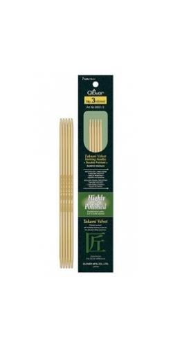 "Clover Velvet Bamboo 7"" Double Point Needles"